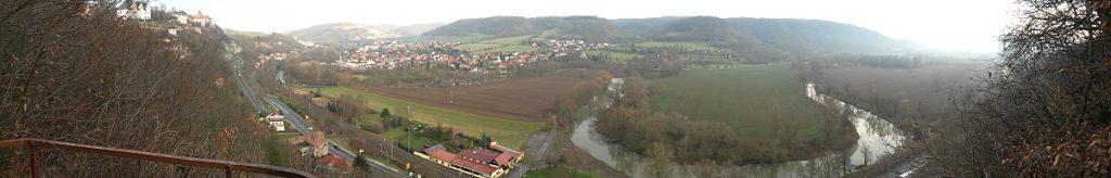 Ein toller Panoramablick über's Saaletal.
